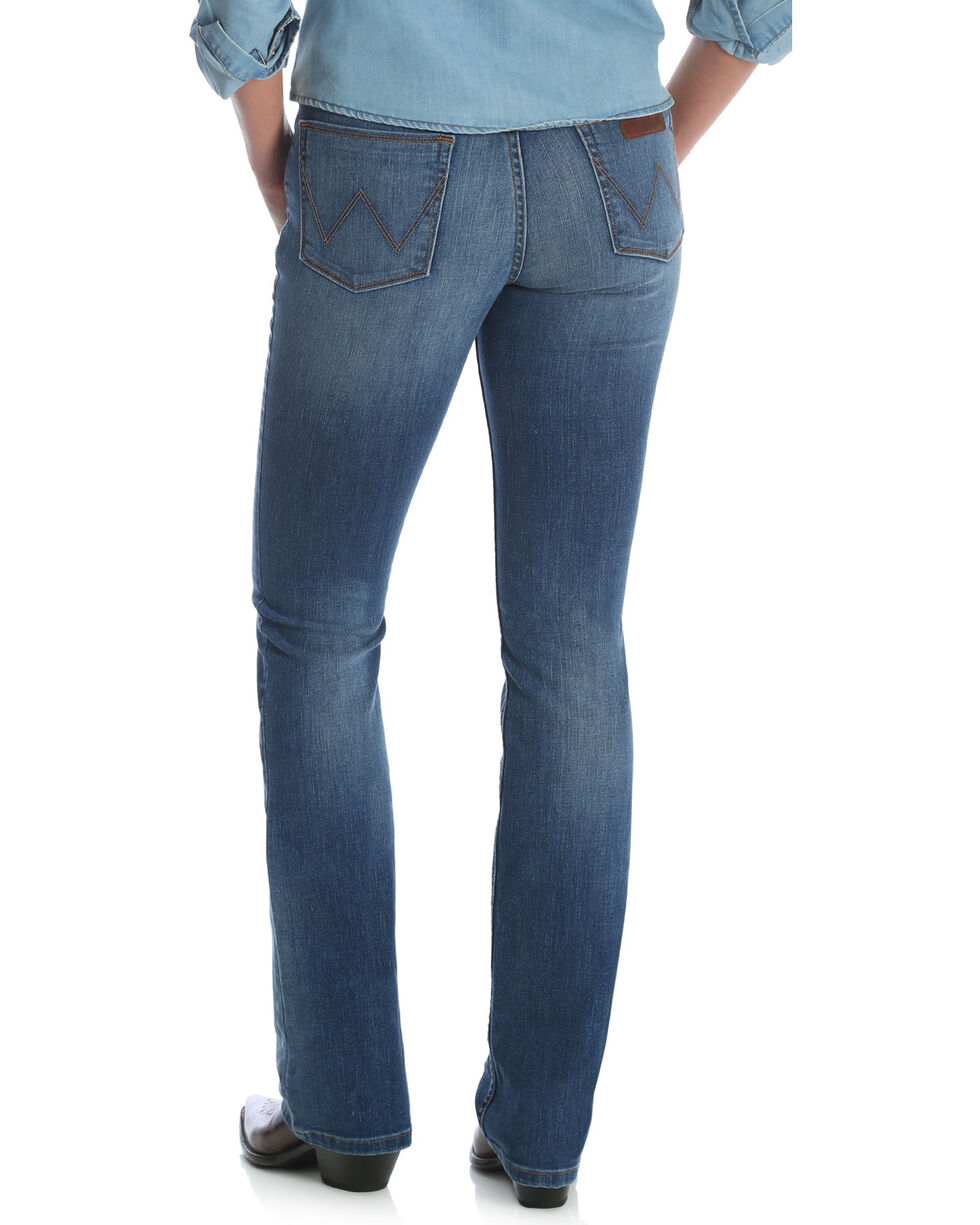 Wrangler Women's Medium Wash Retro Mae Jeans, Indigo, hi-res