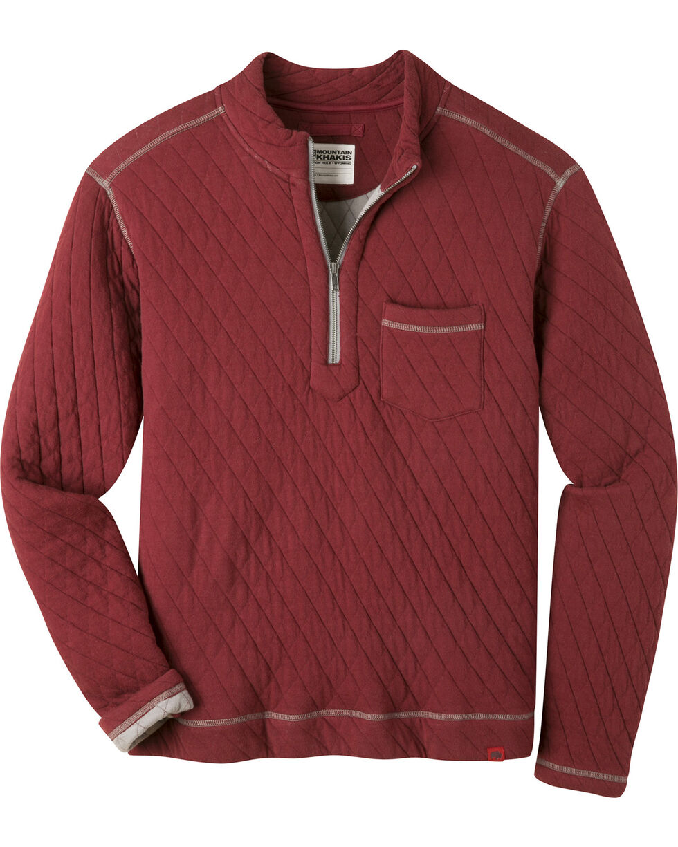 Mountain Khakis Men's Hideaway Pullover Sweater  , Burgundy, hi-res