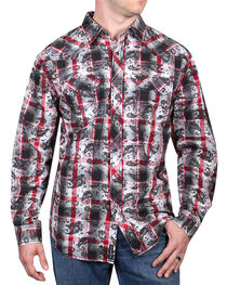 Moonshine Spirit® Men's Spanish Trail Paisley Long Sleeve Shirt, Black, hi-res
