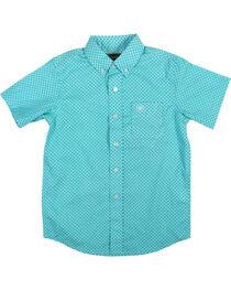 Ariat Boys' Garry Short Sleeve Shirt, , hi-res