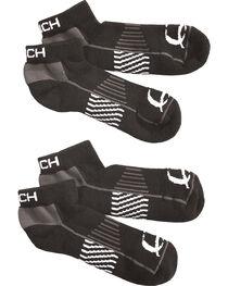 Cinch Men's Black Athletic Ankle Socks (2-Pack), , hi-res
