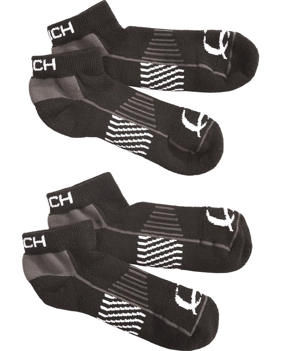 Cinch Men's Black Athletic Ankle Socks (2-Pack), Black, hi-res