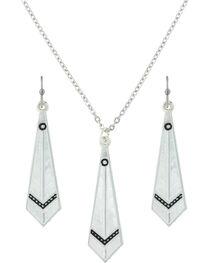 Montana Silversmiths Women's Keen Feather Jewelry Set , , hi-res