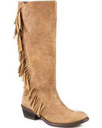 "Roper Women's On The Fringe 15"" Western Boots, , hi-res"