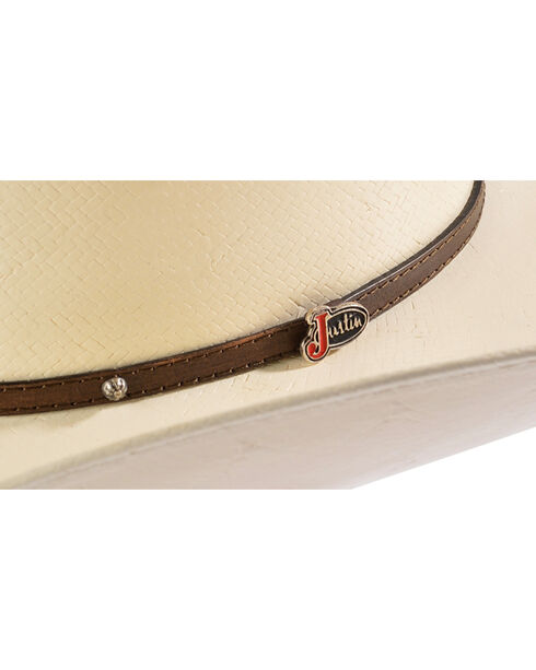 Justin Hat 10X Traditional Straw Cowboy Hat, Natural, hi-res