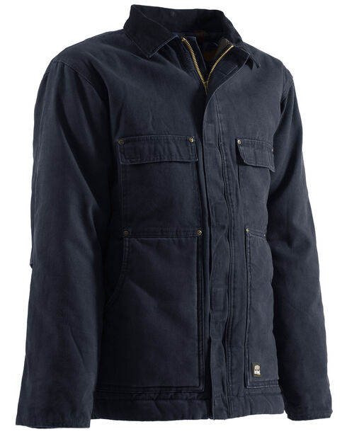 Berne Original Washed Chore Coat - 5XL and 6XL, Midnight, hi-res