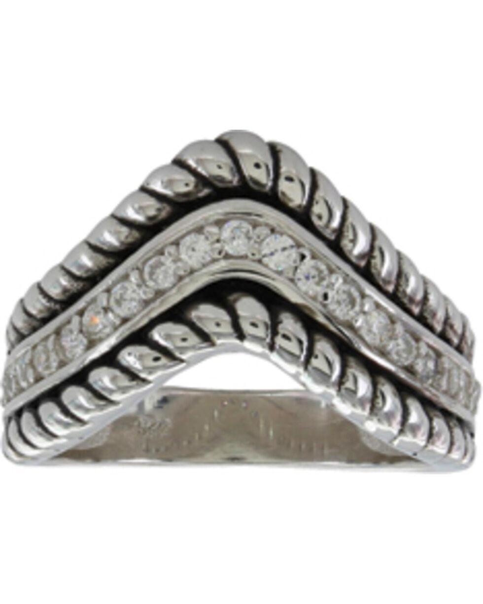 Montana Silversmiths Women's Roped Crown Ring, Silver, hi-res