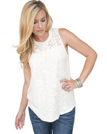 Petrol Women's Touch of Lace Tank, , hi-res