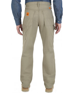 Wrangler RIGGS Workwear Men's Flame Resistant Ripstop Carpenter Pants, Beige/khaki, hi-res