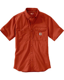 Carhartt Men's Spice Force Ridgefield Short Sleeve Solid Shirt - Big and Tall, , hi-res