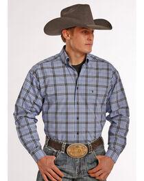Tuf Cooper Performance Men's Plaid Poplin Long Sleeve Shirt, , hi-res