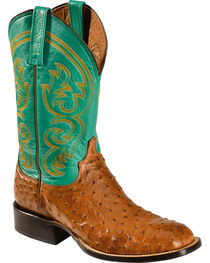 Lucchese Men's Josiah Full Quill Ostrich Western Boots, , hi-res