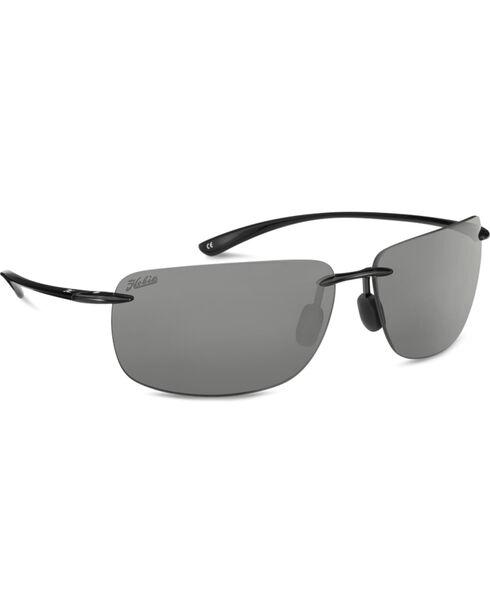 Hobie Men's Grey and Shiny Black Polarized Rips Sunglasses , Black, hi-res