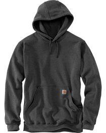 Carhartt Men's Midweight Hooded Pullover Sweatshirt, Charcoal, hi-res