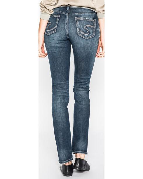 Silver Women's Indigo Elyse Dark Wash Jeans - Straight Leg , Indigo, hi-res