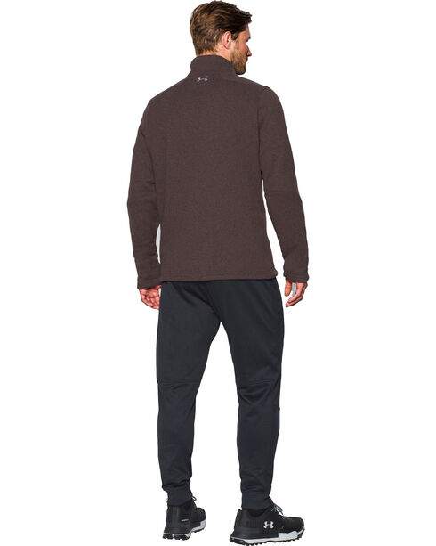 Under Armour Men's Long Sleeve Specialist Storm Sweater, Brown, hi-res