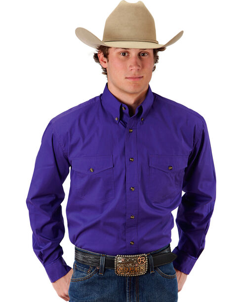 Roper Amarillo Collection Western Shirt, Purple, hi-res