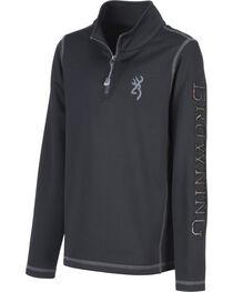 Browning Boys' Black Pitch Quarter Zip Sweatshirt, , hi-res