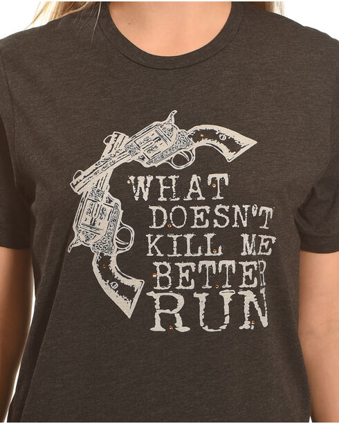 Cowgirl Justice Women's Better Run Tee, Black, hi-res