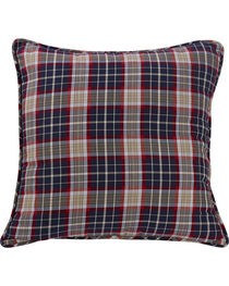 HiEnd Accents South Haven Blue Plaid Euro Accent Pillow, , hi-res