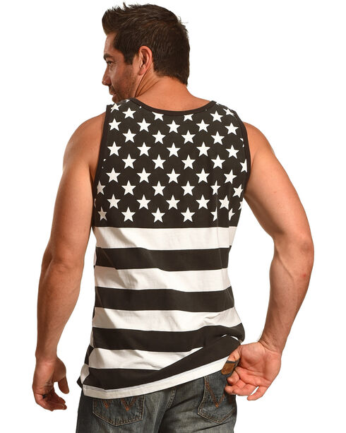 Cody James® Men's Stars And Stripes Tank, Black, hi-res