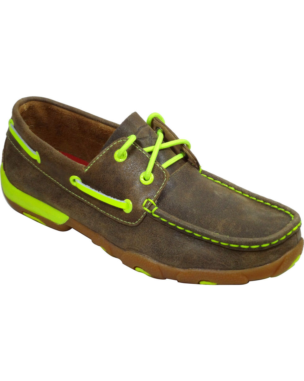 Twisted X Women's Neon Driving Moccasins, Bomber, hi-res