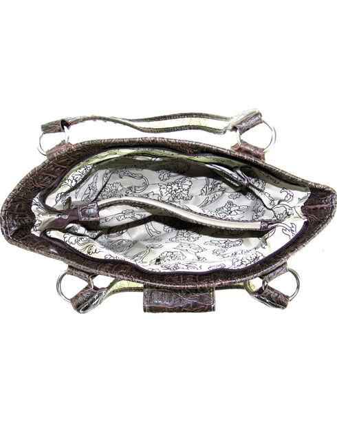 Savana Black Tooled Conceal Carry Buckle Purse , Black, hi-res