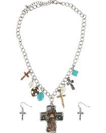 Shyanne® Women's Tri-Colored Cross Jewelry Set, , hi-res