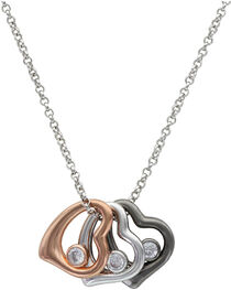 Montana Silversmiths Women's Hearts of a Different Color Necklace, , hi-res
