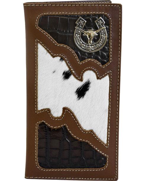 Western Express Men's Rodeo Horse Emblem Wallet , Brown, hi-res