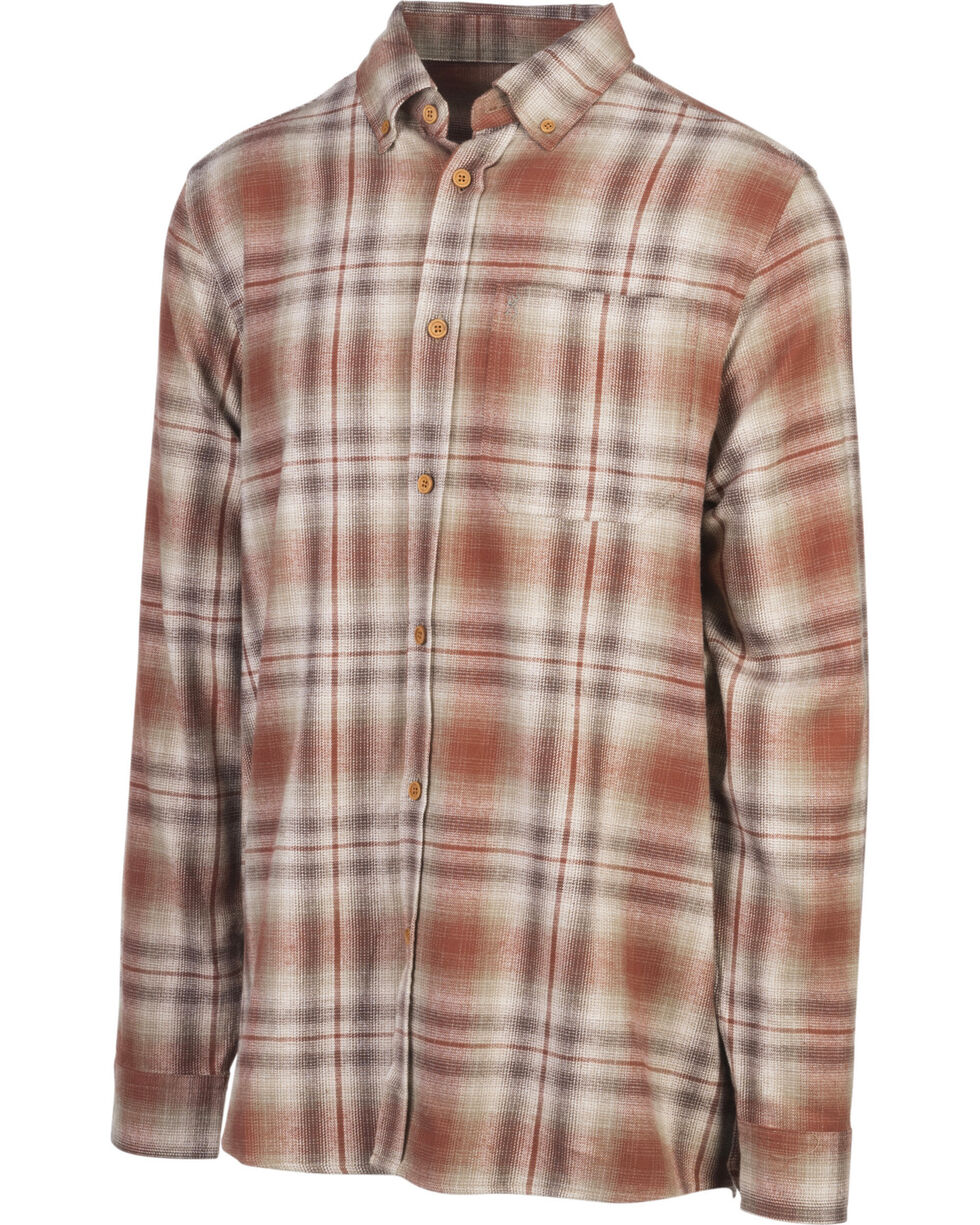 Browning Men's Brown Crawford Flannel Shirt , Brown, hi-res