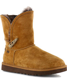 UGG Womens Chestnut Classic Cedar Meadow Boots - Round Toe , Brown, hi-res