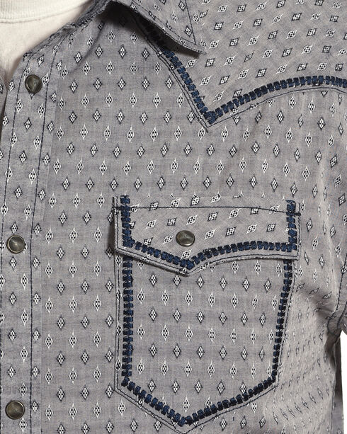 Moonshine Spirit Men's Diamond Dobby Whipstitch Western Shirt, Navy, hi-res