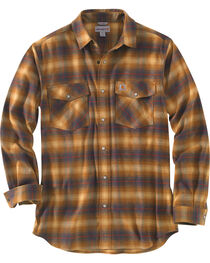 Carhartt Men's Rugged Flex Hamilton Snap-Front Plaid Shirt , , hi-res