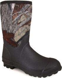 Smoky Mountain Men's Camo Amphibian Work Boots - Round Toe , , hi-res