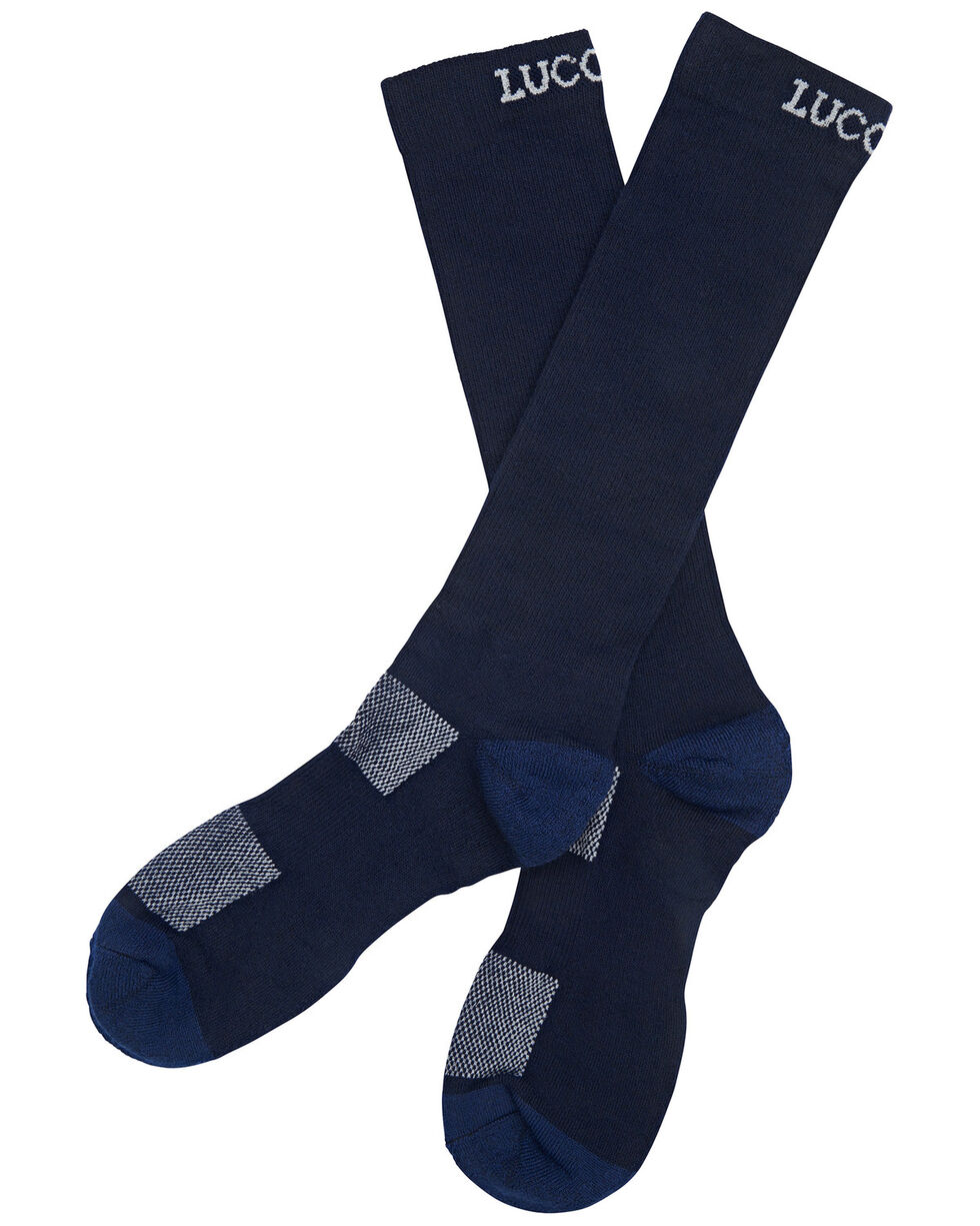 Lucchese Men's Navy Multi-Blend Socks , Navy, hi-res