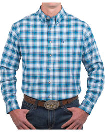 Noble Outfitters Men's Plaid Generous Fit Long Sleeve Shirt, , hi-res