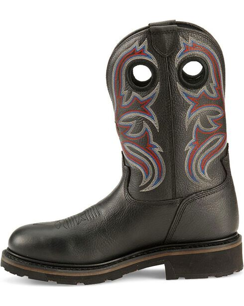 Tony Lama Men's Signature H20 Steel Toe Western Work Boots, Black, hi-res