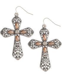 Shyanne Women's Cross Earrings, , hi-res