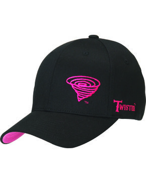 Twister Women's Flex Fit Hot Pink Logo Hat, Black, hi-res