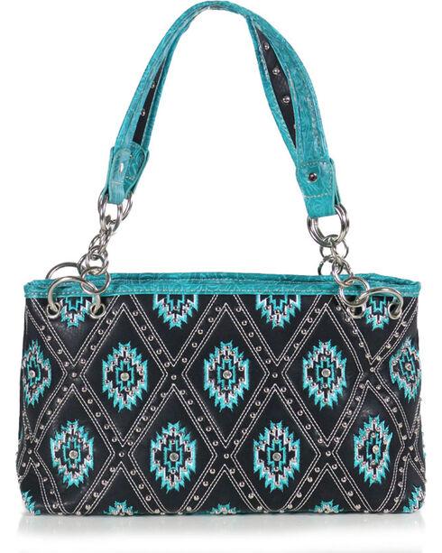 Tyler Rose Accessories Women's Aztec Print Concealed Gun Shoulder Bag, Black, hi-res
