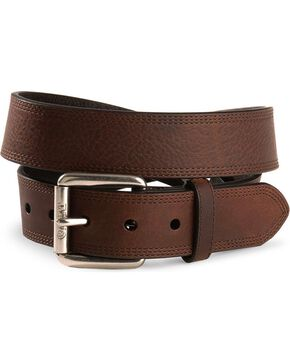 Ariat Triple Stitched Leather Belt - Reg & Big, Copper, hi-res