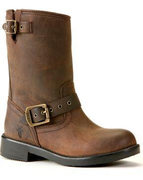 Frye Boys' Brown Engineer Pull-On Boots, Gaucho, hi-res