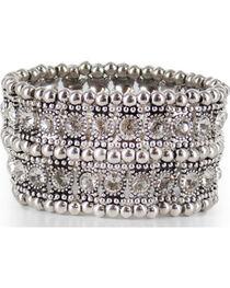 Shyanne® Women's Rhinestone Cuff Bracelet, , hi-res
