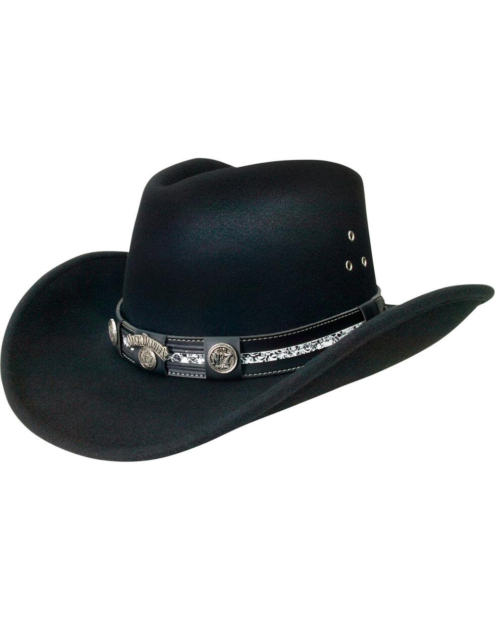 Jack Daniels Black Crushable Hat, Black, hi-res