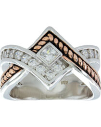 Montana Silversmiths Clasped in Rope and Starlight Ring, , hi-res