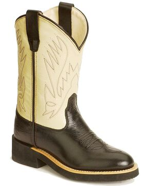Jama Youth's Crepe Sole Western Boots, Black, hi-res