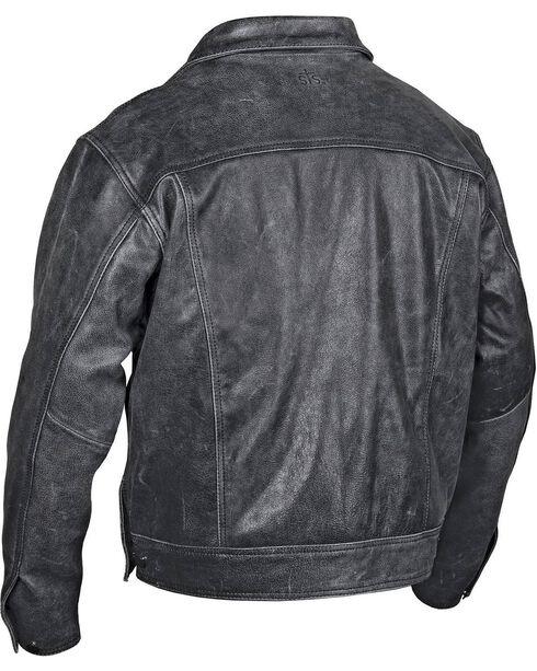 STS Ranchwear Men's Maverick Black Leather Jacket, Black, hi-res