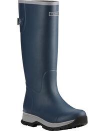 Ariat Women's Navy Fernlee Rubber Outdoor Boots, , hi-res