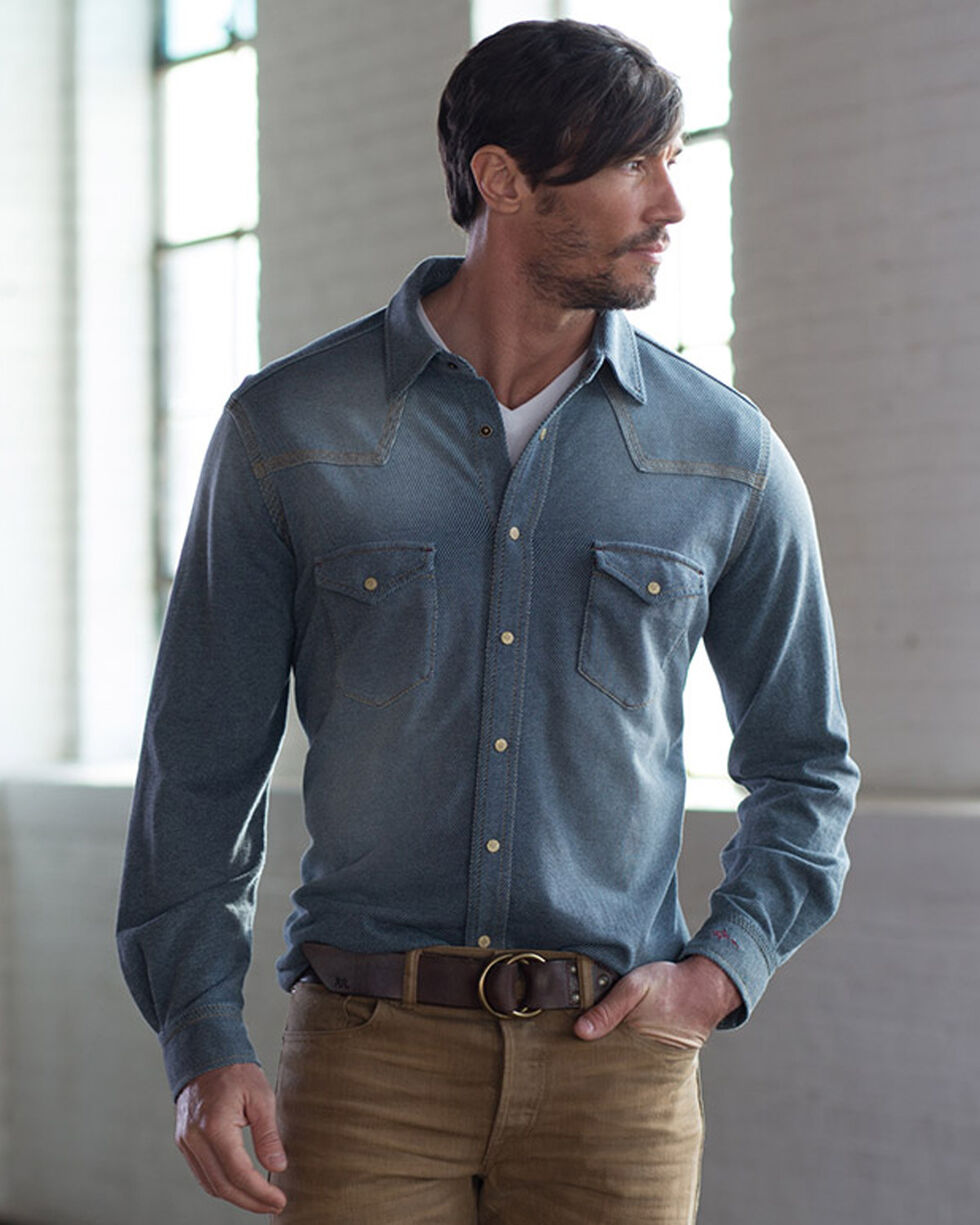 Ryan Michael Men's Indigo Steep Twill Shirt , Indigo, hi-res